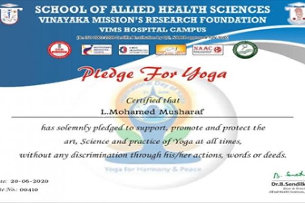 Yoga Day 2020 - FAHS